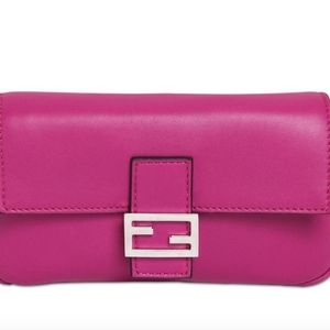 FENDI Nappa Leather Micro Baguette